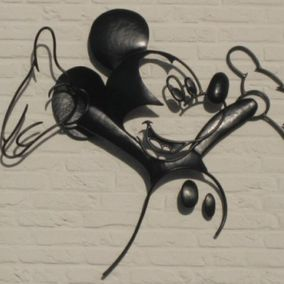 decoratief staal Mickey Mouse